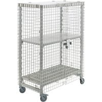 Cambro CPMU244867SUPKG Camshelving® Mobile Security Cage Kit - 26 3/4 inch x 50 1/4 inch x 67 3/4 inch