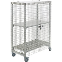 Cambro CPMU244867SUPKG480 Camshelving Mobile Security Cage Kit - 26 3/4 inch x 50 1/4 inch x 67 3/4 inch