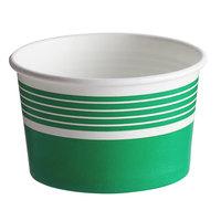 Choice 8 oz. Green Paper Frozen Yogurt / Food Cup - 50/Pack
