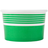 Choice 8 oz. Green Paper Frozen Yogurt Cup - 50/Pack