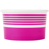 Choice 6 oz. Pink Paper Frozen Yogurt Cup - 1000/Case