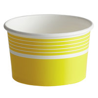 Choice 8 oz. Yellow Paper Frozen Yogurt / Food Cup - 50/Pack