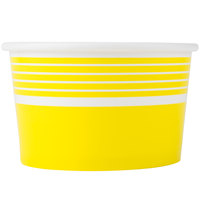 Choice 8 oz. Yellow Paper Frozen Yogurt Cup - 50/Pack
