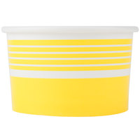 Choice 6 oz. Yellow Paper Frozen Yogurt Cup - 1000/Case
