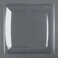 WNA Comet MS10CL 9 1/4 inch Clear Square Milan Dinner Plate - 12 / Pack