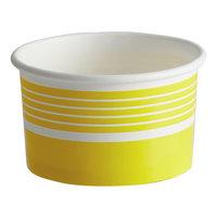 Choice 6 oz. Yellow Paper Frozen Yogurt / Food Cup - 50/Pack