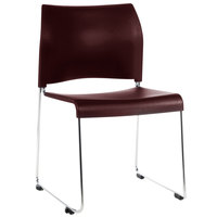 National Public Seating 8804-11-18 Cafetorium Burgundy Stacking Chair