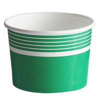Choice 12 oz. Green Paper Frozen Yogurt / Food Cup - 50/Pack