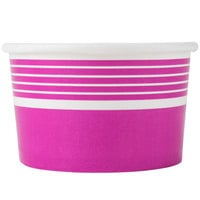 Choice 8 oz. Pink Paper Frozen Yogurt Cup - 1000/Case