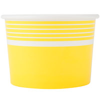 Choice 12 oz. Yellow Paper Frozen Yogurt Cup - 50/Pack