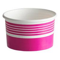 Choice 6 oz. Pink Paper Frozen Yogurt / Food Cup - 50/Pack
