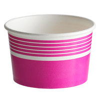 Choice 8 oz. Pink Paper Frozen Yogurt / Food Cup - 50/Pack