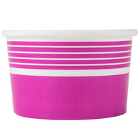 Choice 8 oz. Pink Paper Frozen Yogurt Cup - 50/Pack