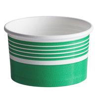 Choice 6 oz. Green Paper Frozen Yogurt / Food Cup - 50/Pack