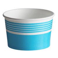 Choice 8 oz. Blue Paper Frozen Yogurt / Food Cup - 50/Pack