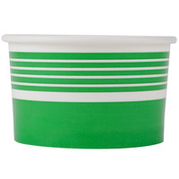 Choice 6 oz. Green Paper Frozen Yogurt Cup - 1000/Case