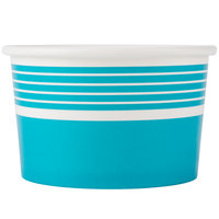 Choice 8 oz. Blue Paper Frozen Yogurt Cup - 1000/Case