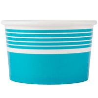 Choice 8 oz. Blue Paper Frozen Yogurt Cup - 1000/Case
