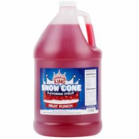 Carnival King 1 Gallon Fruit Punch Snow Cone Syrup - 4/Case