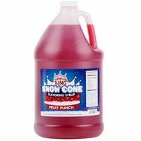 Carnival King 1 Gallon Fruit Punch Snow Cone Syrup