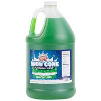 Carnival King 1 Gallon Lemon Lime Snow Cone Syrup