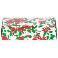 7 1/8 inch x 3 3/8 inch x 1 7/8 inch 1-Piece 1 lb. Poinsettia Candy Box - 250/Case