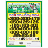 Jester's Jackpot 3 Window Pull Tab Tickets - 3200 Tickets per Deal - $2260 Total Payout