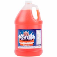 Carnival King 1 Gallon Orange Snow Cone Syrup - 4/Case