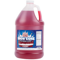 Carnival King 1 Gallon Cherry Snow Cone Syrup - 4/Case