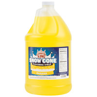 Carnival King 1 Gallon Banana Snow Cone Syrup   - 4/Case