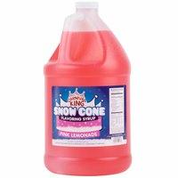 Carnival King 1 Gallon Pink Lemonade Snow Cone Syrup