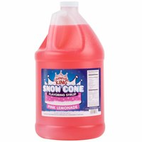 Carnival King 1 Gallon Pink Lemonade Snow Cone Syrup