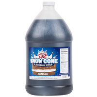Carnival King 1 Gallon Vanilla Snow Cone Syrup - 4/Case