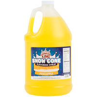 Carnival King 1 Gallon Pineapple Snow Cone Syrup   - 4/Case