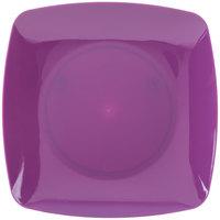 Fineline 1506-PRP Renaissance 5 1/2 inch Purple Square Dessert Plate - 120/Case