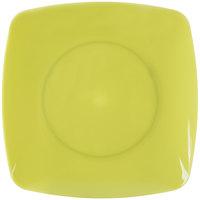 Fineline 1506-GRN Renaissance 5 1/2 inch Green Square Dessert Plate - 120/Case