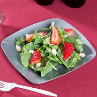 Fineline 1508-SV Renaissance 7 1/2 inch Silver Square Salad Plate - 120/Case