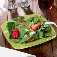 Fineline 1508-GRN Renaissance 7 1/2 inch Green Square Salad Plate - 120/Case