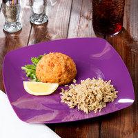 Fineline 1510-PRP Renaissance 10 inch Purple Square Plate - 120/Case