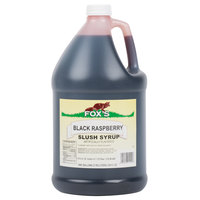Fox's 1 Gallon Black Raspberry Slush Syrup - 4/Case