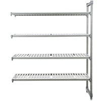Cambro EA247272V4580 Camshelving® Elements 4 Shelf Vented Add On Unit - 24 inch x 72 inch x 72 inch