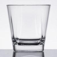 GET SW-1470-CL Cubed 9 oz. SAN Plastic Rocks / Old Fashioned Glass - 24/Case