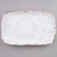 GET CS-117-FM French Mill 12 inch x 7 1/2 inch Irregular Rectangular Platter - 12/Case