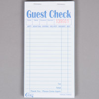 Choice 2 Part Green and White Carbonless Guest Check Book - 50/Case