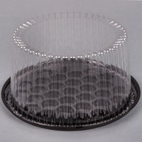 D&W Fine Pack G23-1 8 inch 2-3 Layer Cake Display Container with Clear Dome Lid - 160/Case