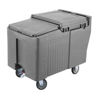 Cambro ICS175L191 SlidingLid Granite Gray Portable Ice Bin - 175 lb. Capacity