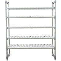 Cambro Camshelving Elements ESU246084V5580 Vented 5-Shelf Stationary Starter Unit - 24 inch x 60 inch x 84 inch
