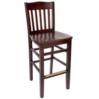 BFM Seating SWB303CW-CW Columbia Classic Walnut Colored Beechwood Bar Height Chair