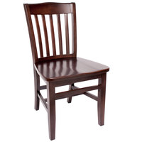 BFM Seating SWC303CW-CW Columbia Classic Walnut Colored Beechwood Side Chair