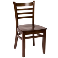 BFM Seating LWC101WAWAW Burlington Walnut Colored Beechwood Side Chair